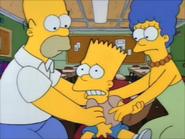 Bart is upset