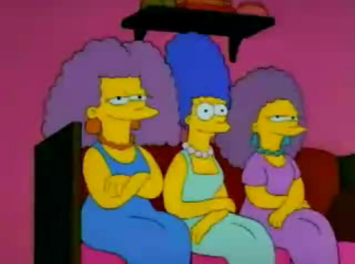 File:Marge with Patty and Selma young in I Married Marge, this was a picture.png