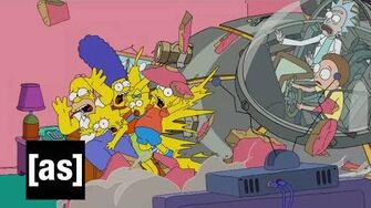 Simpsons Couch Gag Rick and Morty Adult Swim