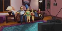 Rotoscoped couch gag