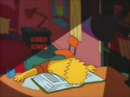 Bart falls asleep