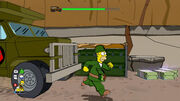 Homer simpson army the simpsons game xbox 360