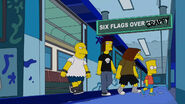 Six Flags Over Krusty Subway Station