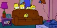 Peeking Heads couch gag