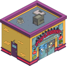 Tapped Out Itchy and Scratchy Gift Shop