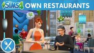 The Sims 4 Dine Out Own Restaurants Official Gameplay Trailer