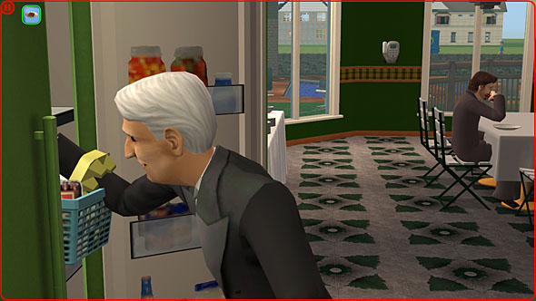 A butler restocking a refrigerator  Butler The Sims Wiki Fandom powered by  Wikia. Sims Freeplay Baby Toilet