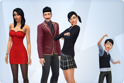 how to play the goth family in sims 4