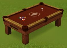 King of the Lounge Pool Table by Weighty Concepts