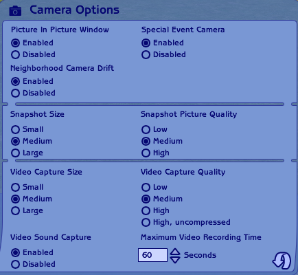 File:The Sims 2 Camera Options.png