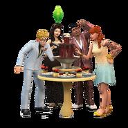 Luxury party stuff render buffet