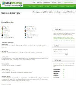 Website sims directory screen