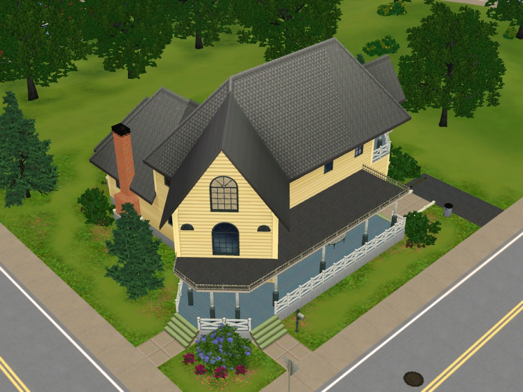 Americana simspedia fandom powered by wikia for Casa moderna sims 3 sin expansiones