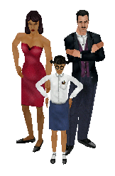 File:The Goth family - The Sims.png