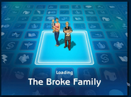 Loading screen of Broke family