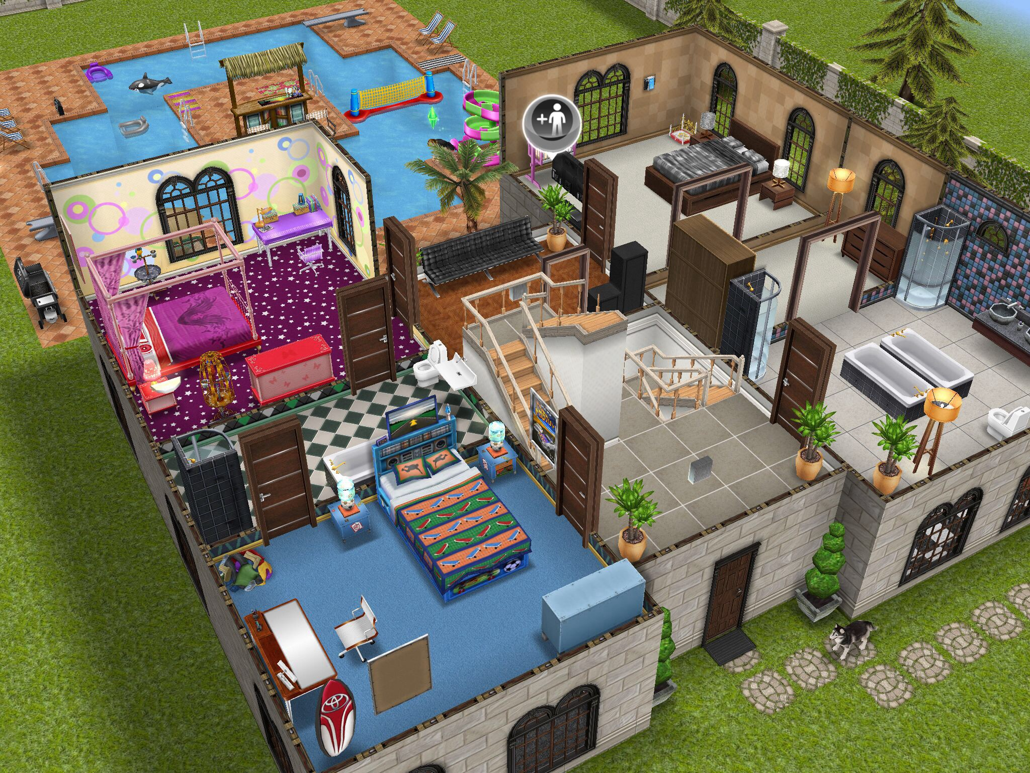 House layout sims freeplay house best design for Casa de diseno sims freeplay