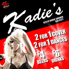 Are you coming to Kadie's Club for Sinful Sundays? (promotional image)