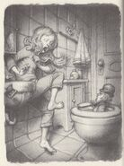 Seamus in the toilet