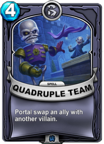 Quadruple Teamcard
