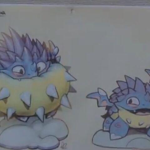 Dibujos de Pop Thorn desinflado e inflado
