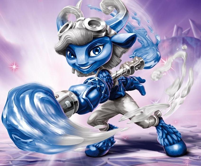 Power Blue Splat is the Power Blue counterpart of Splat in Skylanders: SuperChargers. See also Splat, Power Blues, Power Blue Splatter SplasherWorld: Skylands.