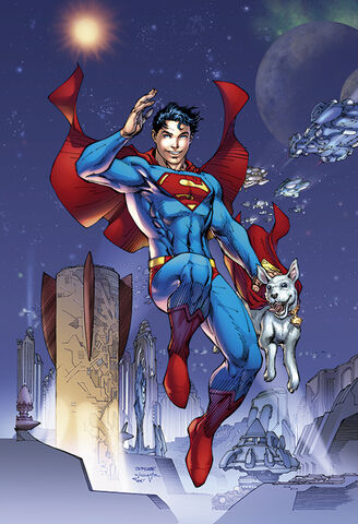 File:Superboy-Prime and Krypto into the future.jpg
