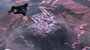 Smallville-Superman flies from Fortress