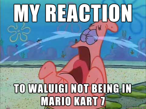 File Patrick s Reaction to Waluigi Not Being in Mario Kart 7 pngWhy Isnt Waluigi In Mario Kart 7