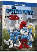 Les Schtroumpfs Blu-ray 3D cover