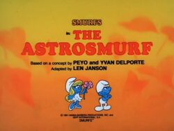Astrosmurf Episode Title Card