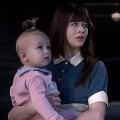 Violet holding Sunny.