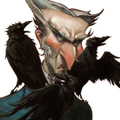 Count Olaf on the cover of The <i>Dilemma Deepens</i>