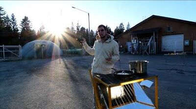 Solar Cooking in Sub-Zero Finland