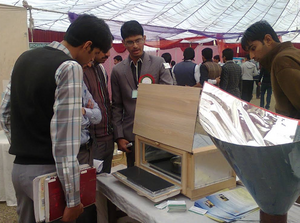 Students at the REPRO Stall, 2015, Khan, 9-30-15
