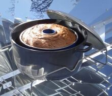 Baking in parabolic cooker figure 2