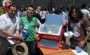 Carlos patricio Eyquem solar oven Chile, 3-19-13