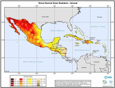 Mexico insolation