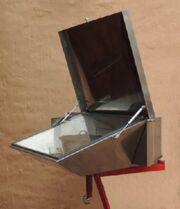 Built in solar oven