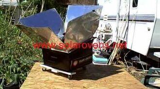 Solar Oven Tracker - Time Lapse - www.solarovens.net