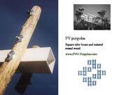Square tube beam for PV pergolas June 22 2007
