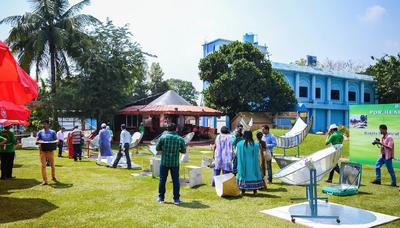 Solar cooking workshop 3, C.V. Raman College, 3-30-15