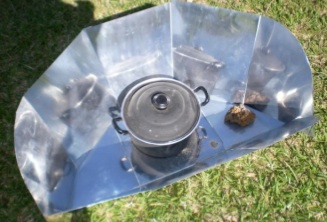 File:Solar Cooking Project Zambia aluminum CooKit.jpg