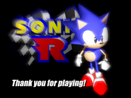 Sonic R - Sonic (Ending Screen)