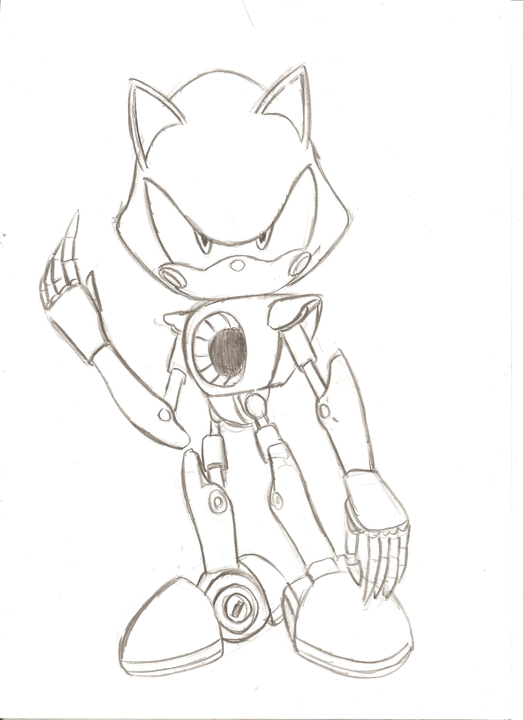 Image my metal sonic news network for Metal sonic coloring pages