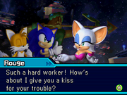 Rouge meeting sonic