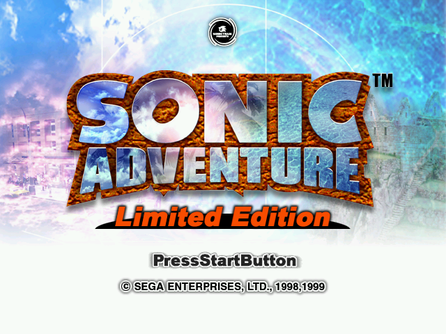 File:Sonic Adventure Limited Edition Title Screen.png