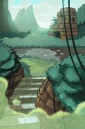 Mystic Ruins Cutscene Background