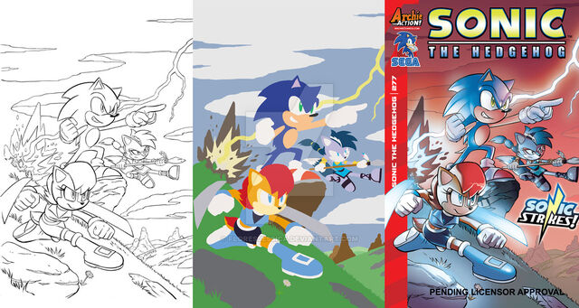 File:Sonic the hedgehog 277 cover flats by floresjessica-d989bvj.jpg