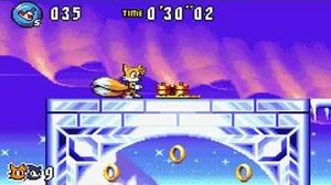 Sonic Advance 3 - Zone 5 Twinkle Snow - Act 1 2 3 & VS Boss