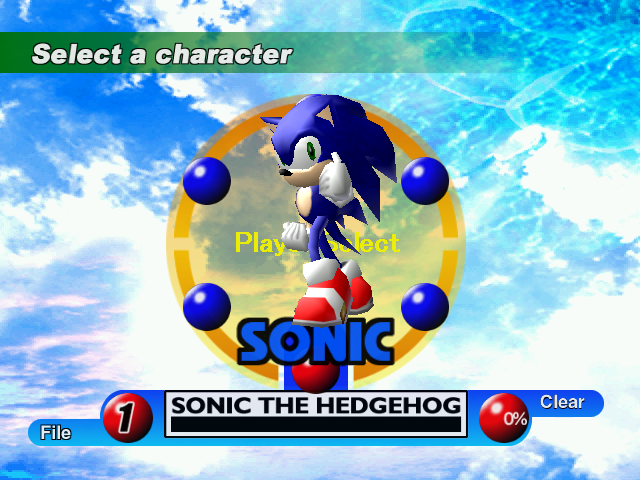 File:Sonic (Sonic Adventure Character Select).png